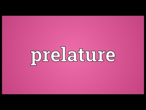Header of prelature
