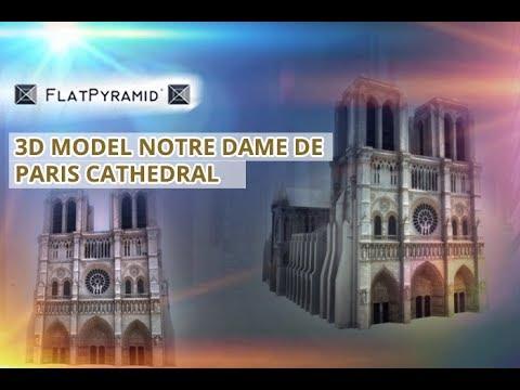 3D Model Notre Dame De Paris Cathedral 3Dmodel