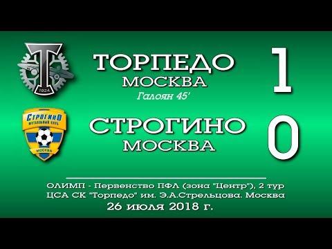 Торпедо Москва - Строгино (Москва) 1:0. Обзор матча