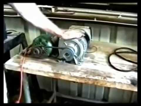3000 Watt Generator Powers Itself, Grinder & Drill Press.