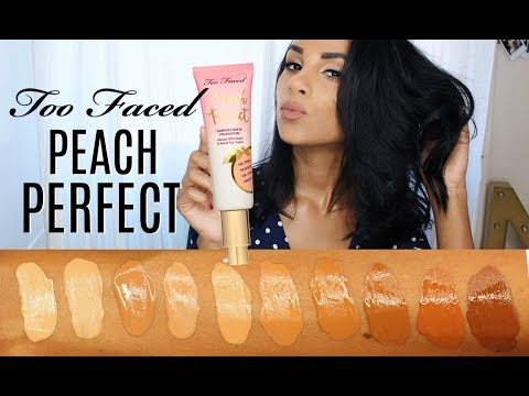 MOST COMFORTABLE Foundation Too Faced Peach Perfect | First Impression