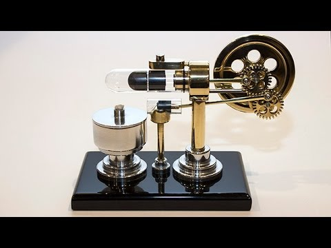 Stirling Engine With Magnet Return Stroke And Timelapse Build