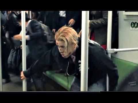 Subway Zombie Prank in Shanghai! (Social Experiment)