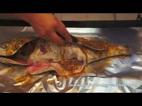 Whole Hammour Cod Fish Marination Oven Baked Recipe How To Cook Great Food Lenon Olive Oil