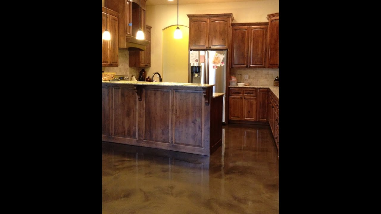 Custom Stained Concrete Floors : Hawkeye custom concrete repairing damaged acid stained