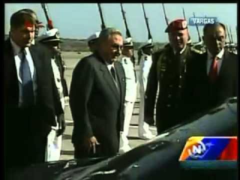Llegada de Raúl Castro