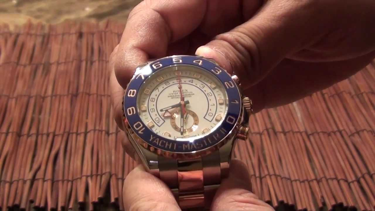 Rolex Yachtmaster 2 Chronograph Two Tone Review Function