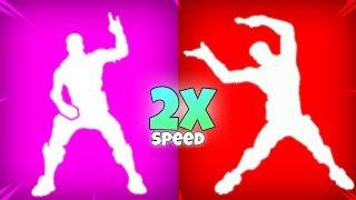FORTNITE DANCE EMOTES 2X SPEED *SOUNDS BETTER!?* (New Emotes)
