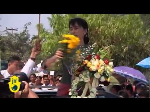 Burma is holding Democratic Elections: Aung San Suu Kyi campaigns for National League for Democracy