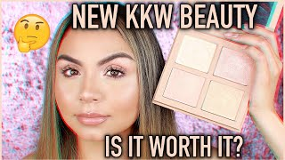NEW! KKW BEAUTY HIGHLIGHT PALETTE 1 REVIEW | IS IT WORTH IT?