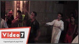 """بالفيديو..زفة بـ""""السيوف"""" لأهالى كفر الدوار بالمنوفية احتفالاً بمولد سيدى إبراهيم"""