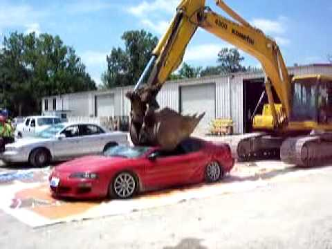 Crushing a Dodge Avenger