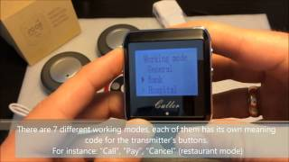 Wireless call system. System Setup: Watch calling receiver ZJ 41E and calling buttons