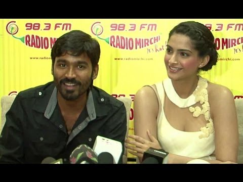 Sonam Kapoor & Dhanush Promote 'Raanjhanaa' At Radio Stations
