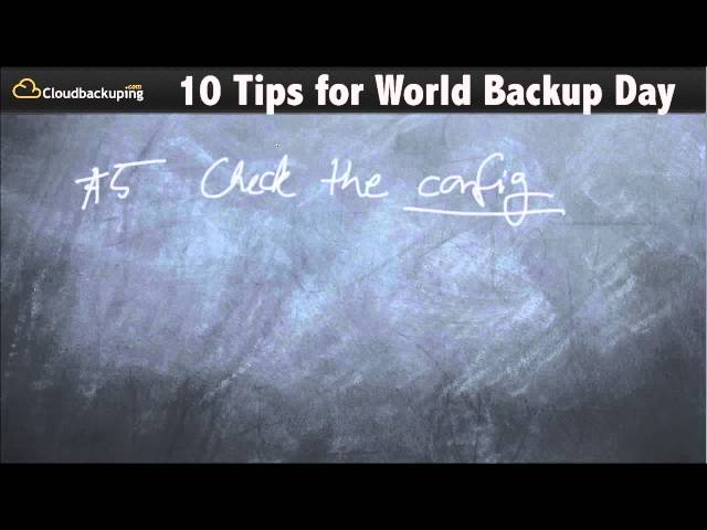 10 Things You Should Do On World Backup Day