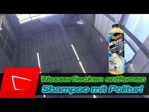 Wasserflecken Kalkflecken entfernen mit Meguiars Wash Plus - Shampoo/Politur - Koch Chemie FSE Test