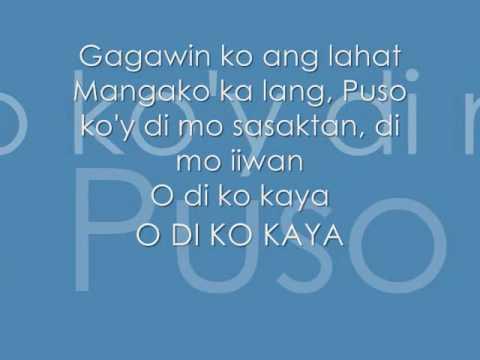 Di Ko Kaya - Lyrics