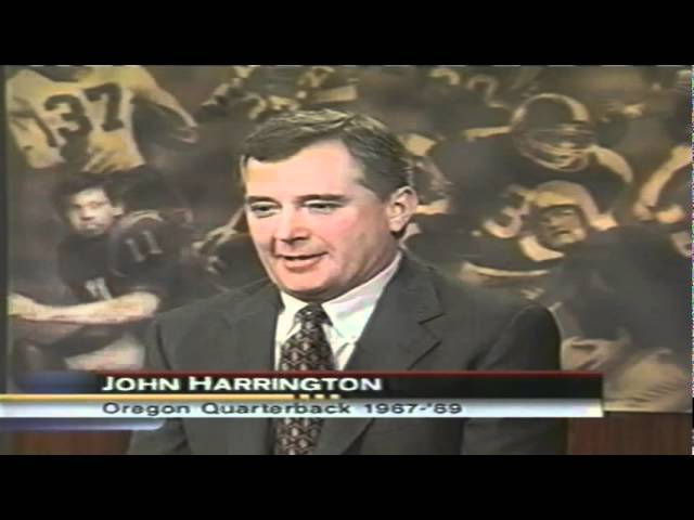 Feature on Oregon QB Joey Harrington from 2001 Heisman Ceremony