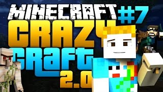 Minecraft: CRAZY CRAFT 2.0 - #7 | LUCKY BLOCK BASE