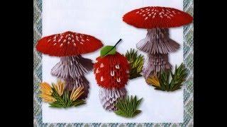 Modular origami. Mushroom fly agaric. Master Class.