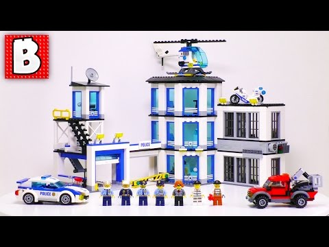LEGO City 2017 Police Station. Set 60141   Unbox Build Time Lapse Review
