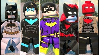All Bat Family Characters and Vehicles in LEGO DC Super-Villains