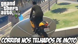 GTA V Nova Geração - Corrida nos Telhados, Primeira pessoa com moto é TENSO