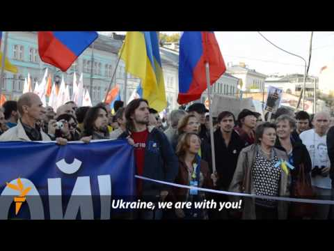 Thousands March In Moscow For Peace In Ukraine