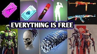 Everything is free in free fire || Free Fire rampage event full DETAILS all items