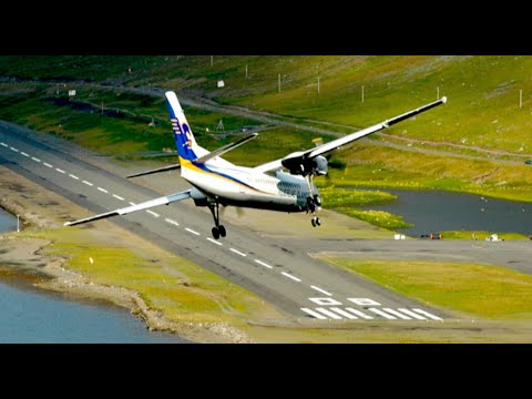 Watch in HD! Fokker 50 of Air Iceland landing at Isafjordur airport BIIS in remote West Fjords in Iceland. A landing from the other direction can be found be...