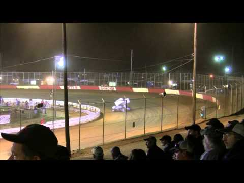 Lincoln Speedway 410 and 358 Sprint Car Highlights 4-18-15
