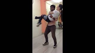 Samadhan Sargar Doing Rehearsal With Karishma Kapoor