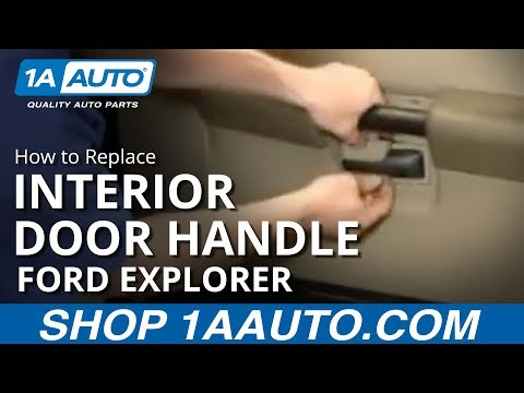 How To Install Replace Inside Door Handle Ford Explorer Sport Trac 01-05 1AAuto.com