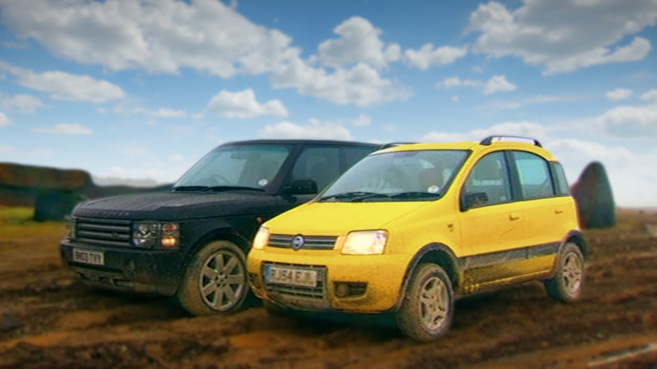 fiat panda 4x4 vs range rover fifth gear youtube. Black Bedroom Furniture Sets. Home Design Ideas