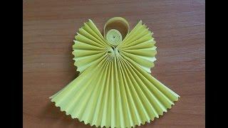 Как Сделать Ангела Из Бумаги. Рождественский Ангел Своими Руками. Origami Angel