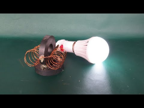 Awesome magnets free energy light bulbs 100% - Easy free energy project easy at home (NEW) thumbnail