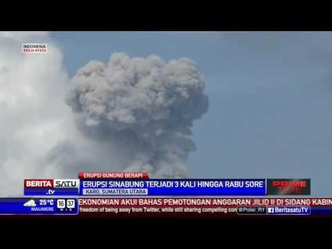 Aktivitas Gunung Sinabung Masih Tinggi