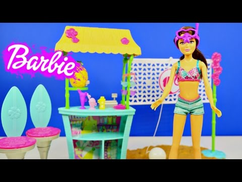 Barbie Sisters Tiki Hut Life In The Dreamhouse Playset Play Doh Volleyball and Skipper Doll