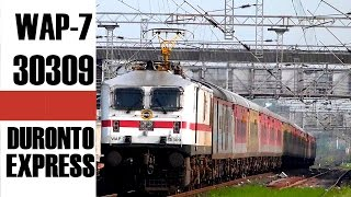 Train Driver of DURONTO EXPRESS waves GREEN FLAG ! SLOW and STEADY acceleration