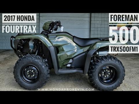 2017 Honda Foreman 500 4x4 ATV (TRX500FM1H) Walk-Around Video   Olive   HondaProKevin.com