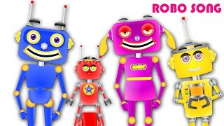 Robo 2 Animated Finger Family  - Nursery Rhymes For Children - By Nursery Kids