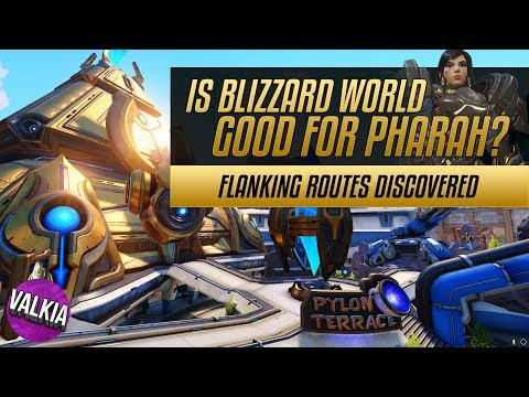 Overwatch Blizzard World Tour - Flanking route guide + Pharah play guide || Valkia