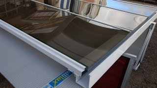 DIY como Instalar Cobertura de Policarbonato Compacto reta com perfis aluminio Polysolution