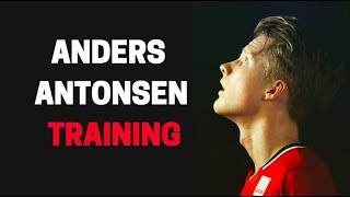 Anders Antonsen Badminton Training session