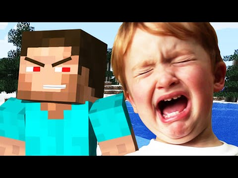TWO KIDS RAGE HARD ON MINECRAFT - (Minecraft Trolling)