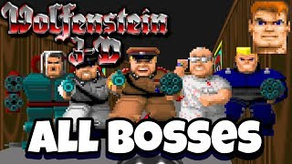 Wolfenstein 3D - All Bosses + Ending