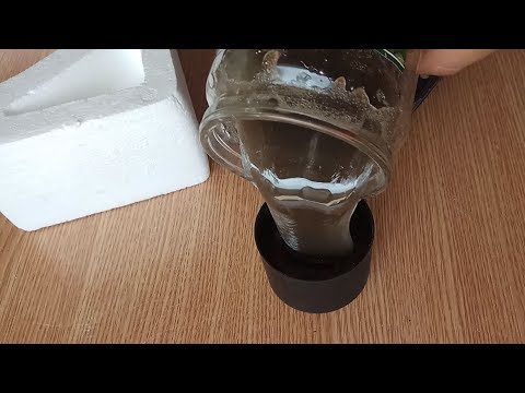 Пенопласт растворяем в ацетоне и заливаем в форму. Эксперимент
