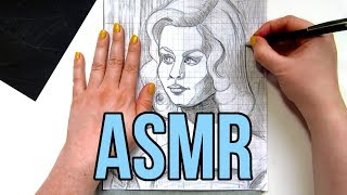 ASMR Tracing Paper No Talking    Transferring Drawings with Graphite Transfer Paper & Ballpoint Pen