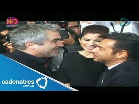 Alfonso Cuarón y Eugenio Derbez tiene un encuentro efusivo en el cine de Morelia