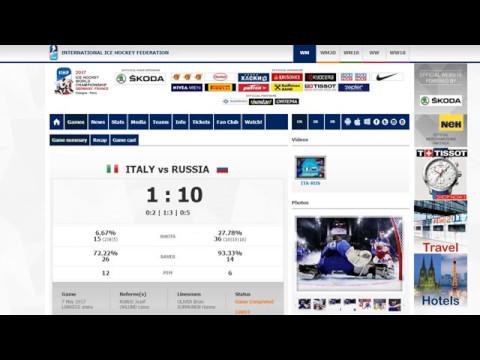 Италия х Россия 1-10. 7.05.2017